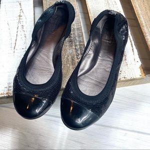 Coach Black Sequin Dashing Ballet Flats Elastic